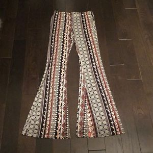 Pants - High Rise Fitted Bell Bottom Pants